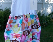 Custom listing for..CASEY   Tea Party Tank Dress by Too Chute.....Fabric by M.Miller....Childrens clothing