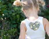 Custom listing for...Little GirlTwirl  Skirt...Amanda.......5t skirt and 5t tank....High Society - Small Floral in Gray