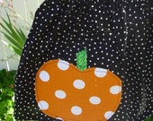 Halloween Twirly Skirt...Too Chute's Uber Cute Poka Dot Pumpkin ......Childrens clothing