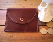 NZFINCH Coin Purse, rich red leather