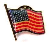 American Flag Pin Vintage Made in America