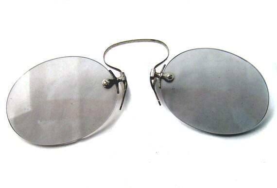 Pince Nez C Bridge Rimless Sun Glasses by oneredhen on Etsy