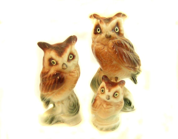 Owl Figurine Ceramic Hoot Hoot Bone China Japan