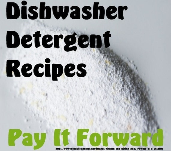 Dishwasher Detergent Recipes- PIF- Pay It Forward