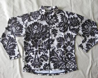 Women's cycling jersey jacket Damask Print - Small / Medium / Large / XL