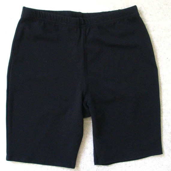 LARGE-Fitness/Workout Shorts-Solid Black