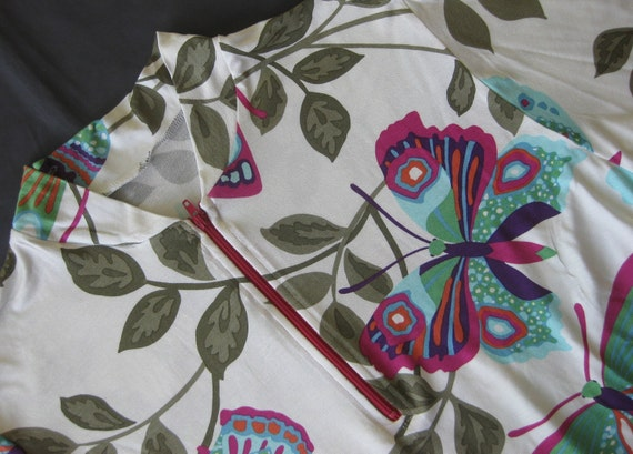 EXTRA LARGE-Women's Cycling Jersey Top-Long Sleeve Butterfly Pattern