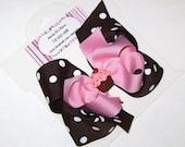 Chocolate Cupcake Polka Dot Bow
