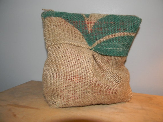 Recycled Burlap Clutch