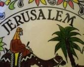 Hand Painted Ceramic Signed Plate, Jerusalem