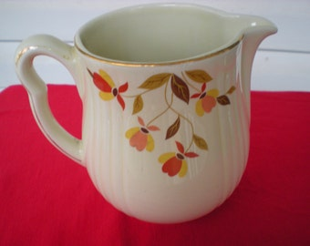Vintage Hall's Quality Kitchenware Autumn Leaf Pitcher