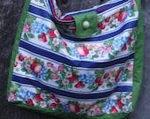 tote bag reversible fruit striped