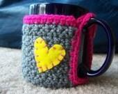 Gray Mug Coaster Cozy