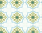 Sanctuary Temple Tiles Seafoam by Patty Young for Michael Miller, 1 yard