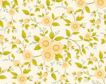 Daydream Cream Daydream Floral by Stitch Studios for Riley Blake, 1/2 yard