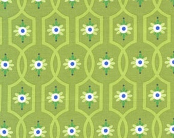 Gypsy Bandana Moonflower Green by Pillow and Maxfield for Michael Miller, 1/2 yard