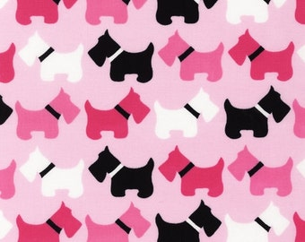 Urban Zoologie Pink Scotties for Robert Kaufman, 1/2 yard
