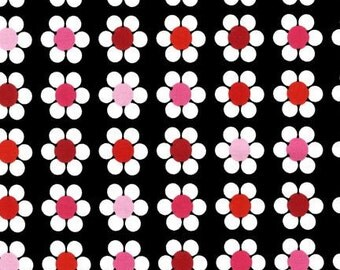 Remix Licorice Daisies by Anne Kelle for Robert Kaufman, 1/2 yard