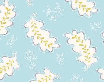 Promenade Blue Flourish by Cyndi Walker-Stitch Studios for Riley Blake, 1/2 yard