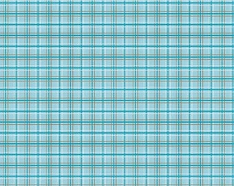 Fox Trails Blue Plaid by Doohikey Designs for Riley Blake, 1/2 yard