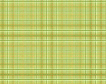 Fox Trails Green Plaid by Doohikey Designs for Riley Blake, 1/2 yard