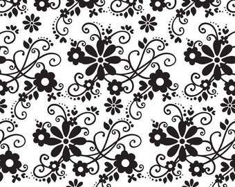 Tuxedo Collection White Main by Doodlebug Designs Inc for Riley Blake, 1/2 yard