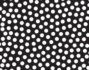 Tuxedo Collection Black Dot by Doodlebug Designs Inc for Riley Blake, 1/2 yard