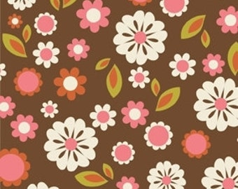 Indian Summer Brown Floral by Zoe Pearn for Riley Blake, 1/2 yard