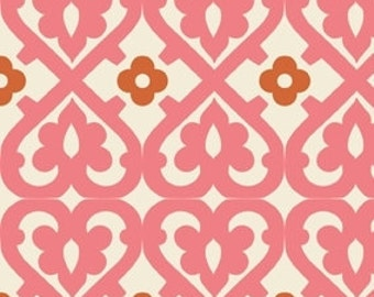 Indian Summer Pink Damask by Zoe Pearn for Riley Blake, 1/2 yard