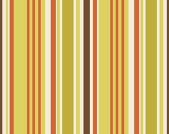 Indian Summer Green Stripe by Zoe Pearn for Riley Blake, 1/2 yard