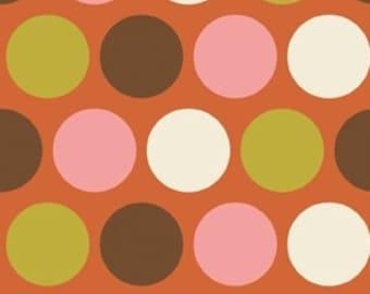 Indian Summer Orange Big Dot by Zoe Pearn for Riley Blake, 1 yard