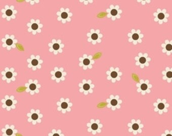 Indian Summer Pink Daisy by Zoe Pearn for Riley Blake, 1/2 yard