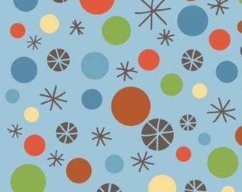 Scoot Blue Scoot Dots by Deena Rutter for Riley Blake, 1/2 yard