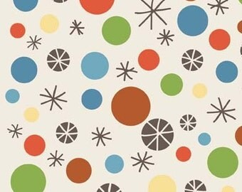 Scoot Cream Scoot Dots by Deena Rutter for Riley Blake, 1/2 yard