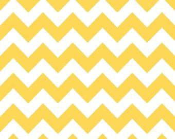 Chevron Yellow for Riley Blake, 1/2 yard