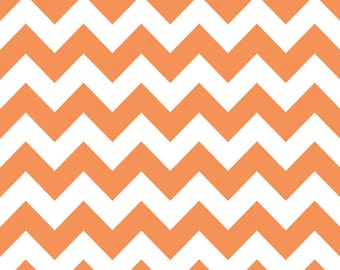 Chevron Orange for Riley Blake, 1/2 yard