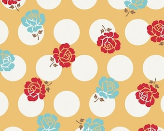 Sew Cherry Yellow Rose Dots by Lori Holt of Bee in my Bonnet for Riley Blake, 1/2 yard