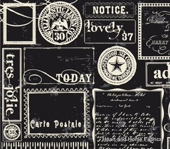 Lost & Found Black Labels by Jen Allyson for Riley Blake, 1 yard