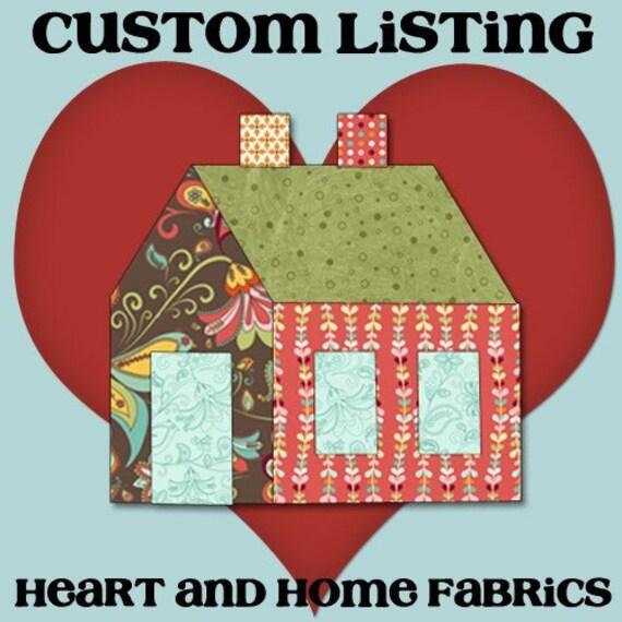 Custom Listing for Celine P, fabrics for Riley Blake