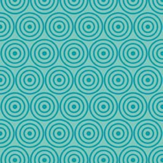 Alphabet Soup Blue Circles by Zoe Pearn for Riley Blake, 1/2 yard, LAST ONE