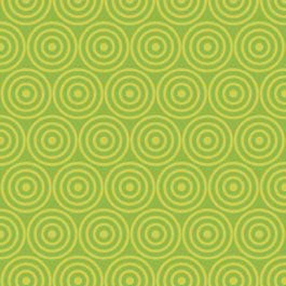 Alphabet Soup Green Circles by Zoe Pearn for Riley Blake, 1/2 yard, LAST ONE