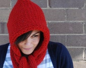 Hooded Scarf LEARN TO KNIT Knitting Pattern