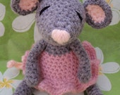 Crochet Pattern - Amigurumi Ballerina Mouse - PDF Format