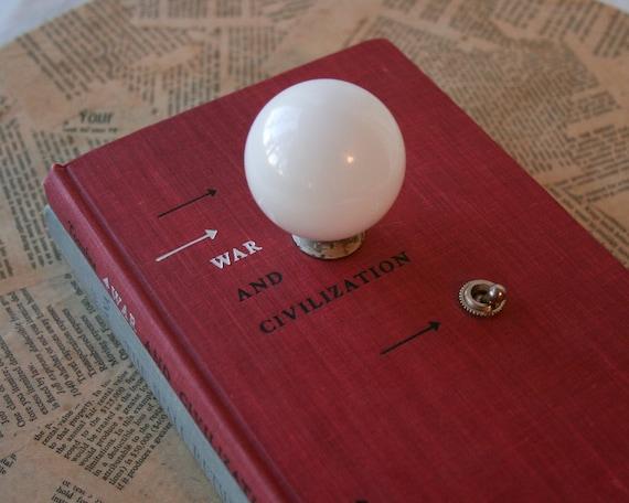 Clearance Sale - Hardback Book Lamp - War and Civilization