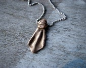 Necktie pendant sculptured bronze