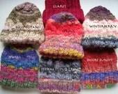Hand Knit Unisex Watchcaps.. Organic Italian Merino wool and Icelandic wool
