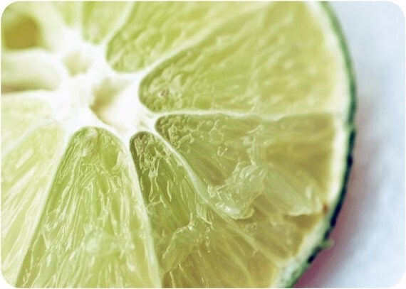 Green Lime Three - 5 x 7 Fine Art Macro Photograph - Food Photos - Culinary Art - Kitchen - Dining Room - Home Decor - Wall Art