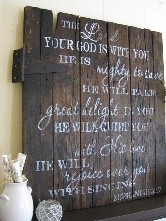 Handpainted wood barn door (RESERVED)