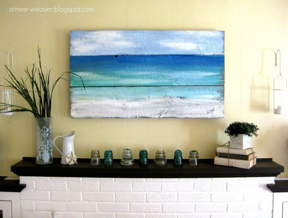 Beach-Inspired Wood Barn Door Painting (RESERVED)