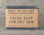 Facial Soap for Oily Skin - All Natural Soap, Handmade Soap, Unscented Soap, Cold Process Soap, Oily Skin Soap, Facial Soap, Vegan Soap,